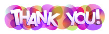 Thank You! Vector Letters Banner