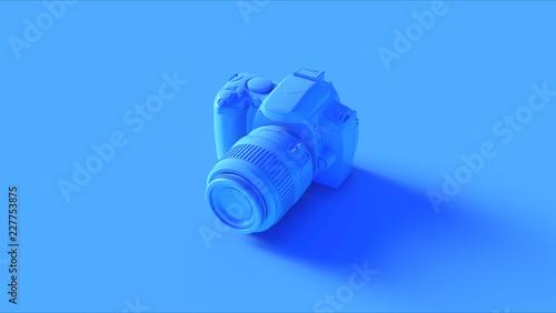 Photo  Blue Digital DLSR Camera 3d illustration 3d render