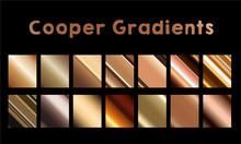 Cooper Gradients Luxury Vector Business Banner Metallic Material Element