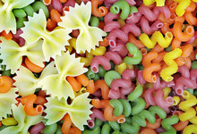Colored Pasta Texture Backgrou...