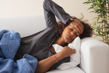 Ill Woman With Cold And Flu Bad Symptoms