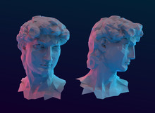 Modern David Sculpture Head Ve...