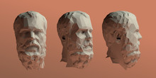 Socrates Head Vector 3D Render...
