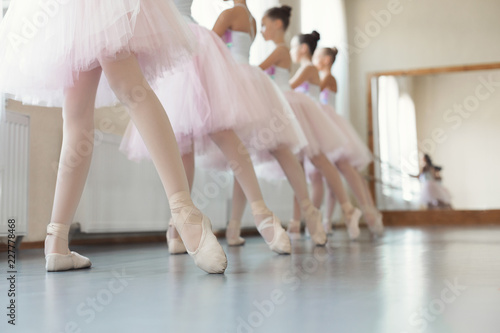 b6c4cb4c1 Group of young girls dancing ballet in studio: comprar esta foto de ...