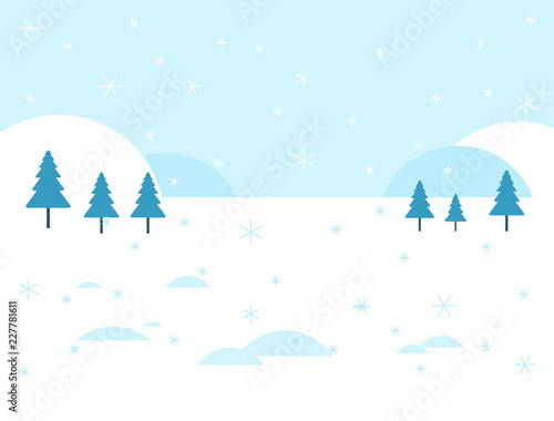 Printed kitchen splashbacks Light blue Winter landscape. Snow and snowdrift. Background for Christmas greeting card