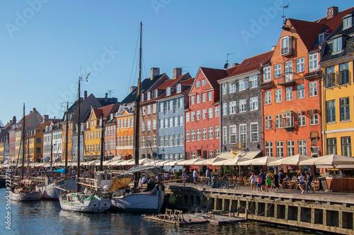 Photo  Nyhavn district in Copenhagen, the capital of Denmark