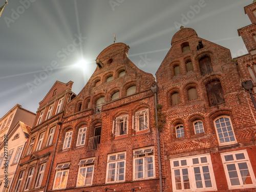 Keuken foto achterwand Oude gebouw Giebelhäuser