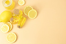 Lemonade Juice Extract With Bottle Glass For Food Ingredients And Cosmetic
