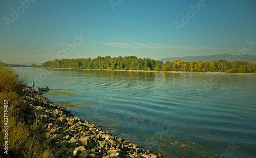 Fotobehang Oceanië Rhein bei Heidenfahrt