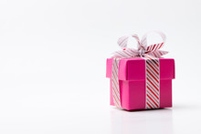 Pink Color Gift Box Tied With ...