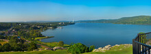 Hudson River Panorama At Peeks...