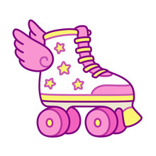 Cute Roller Skates With Wings