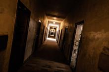 An Old Corridor Of A Creepy Pr...