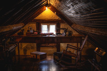 An Old Attic With Antique Furn...