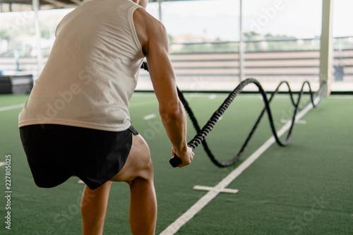 Fotografie, Obraz  Joven en centro deportivo para atletas