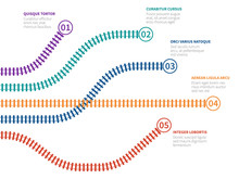 Railroad Tracks Infographic. R...