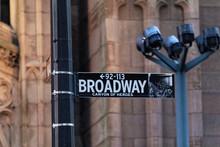 Broadway Street Sign In Manhattan, New York City.