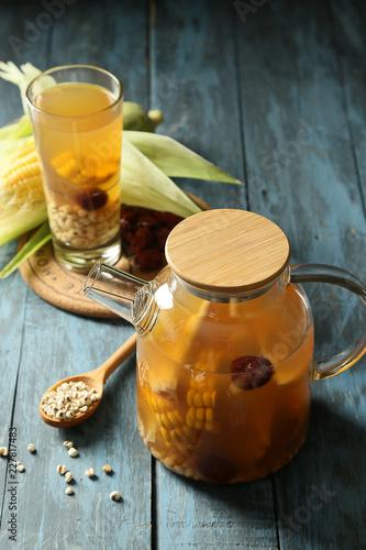 Fotografia, Obraz A pot of coix seed water