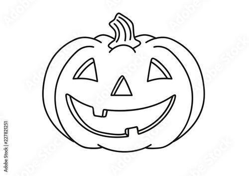 Halloween Kuerbis Zum Ausmalen.Halloween Kurbis Ausmalbild Stock Vector Adobe Stock