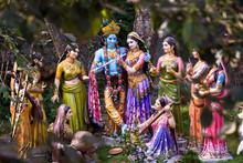 Lord Krishna With His Radha