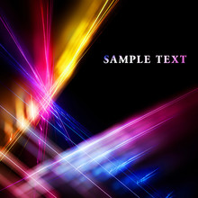 Abstract Bright Color Fractal Pattern