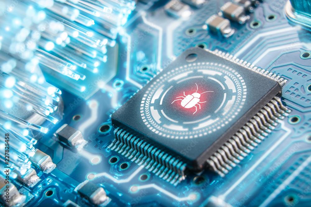 Fotografía Software security concept