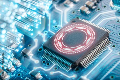 Cuadros en Lienzo electronic security concept. Data security.