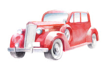 Hot Rod, Isolated Watercolor I...