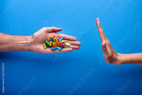 Campaign advertising against drugs, against chemical and non-natural drugs Fototapeta