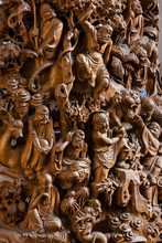 Wooden Carved Eighteen (18) Arhats At Jade Buddha Temple (Shanghai, China)
