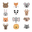A collection of cute animals for kids.