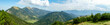 canvas print picture - Blick vom Panoramaberg Wank