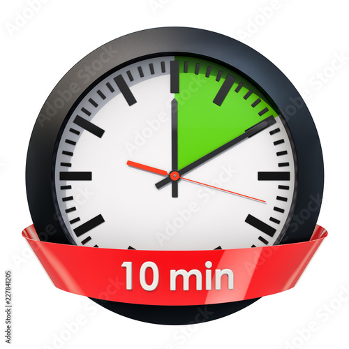 Fotomural  Clock face with 10 minutes timer. 3D rendering