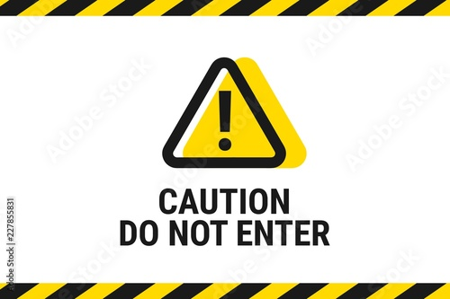 Photo  Do Not Enter. Road sign icon. Vector illustration