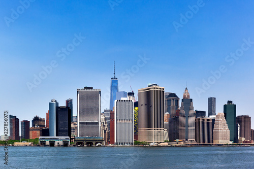 In de dag New York City panoramic views of the New York City Manhattan