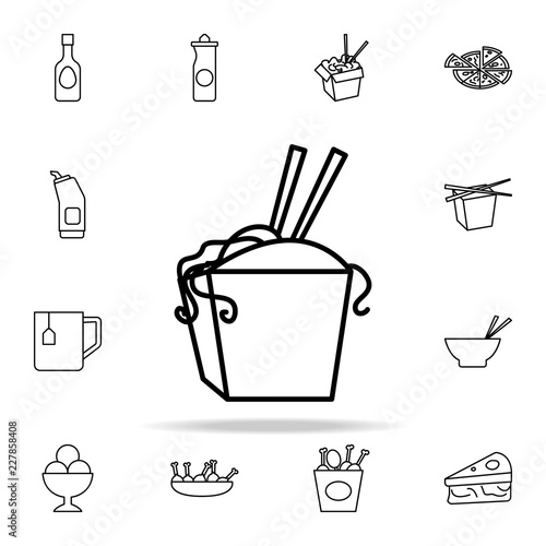 Chinese Fast Food Icon Fast Food Icons Universal Set For