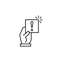 Notice, Penalty, Sanction Icon. Element Of General Data Project Icon For Mobile Concept And Web Apps. Thin Line Notice, Penalty, Sanction Icon Can Be Used For Web And Mobile