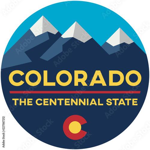 colorado: the centennial state | digital badge Canvas Print