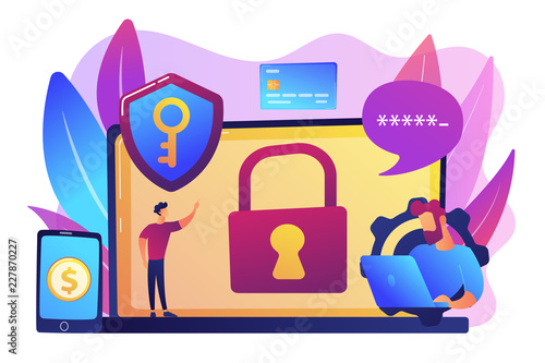 Cyber security software concept vector illustration.