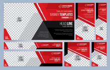 Red And Black Web Banners Temp...