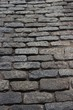 Old, brick street in downtown Boston, MA