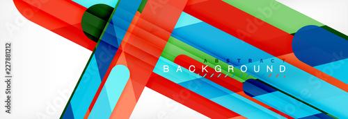 Fototapeta Abstract colorful lines, modern geometric background design obraz na płótnie