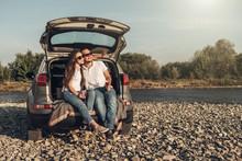 Happy Couple On Roadtrip Into ...