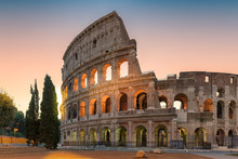 Colosseum At Sunrise, Rome, It...