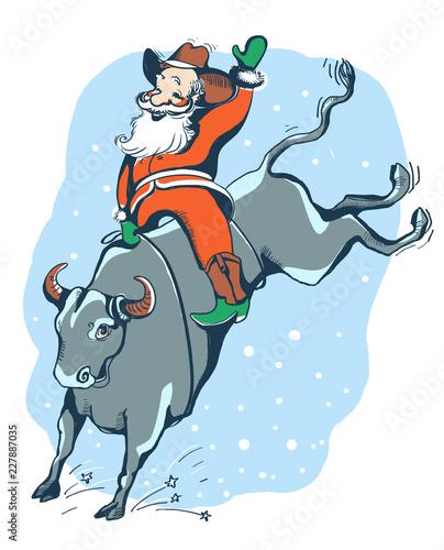 Fotografía  Cowboy Santa on the Rodeo