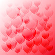 Heart vector background. Valentine's day design. Abstract background can be used in greeting cards, wedding invitations, cover design, website background, banner, poster, advertising.