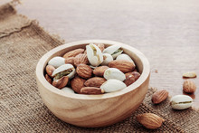 Almond In A Bowl.