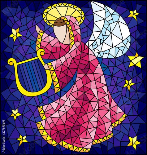 ilustracja-w-stylu-witrazu-abstrakcyjny-aniol-w-rozowej-szacie-z