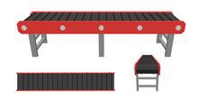 Empty Conveyor Belt. Isolated ...