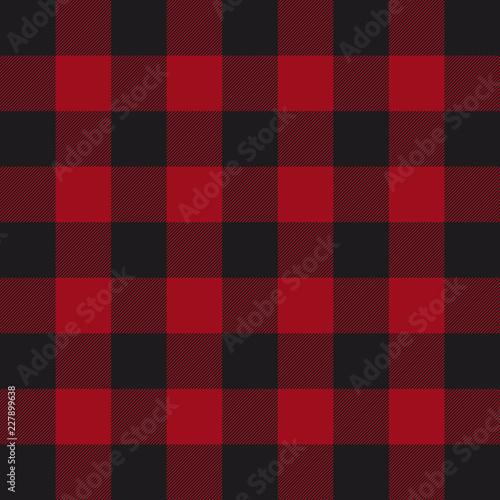 Staande foto Buffel Lumberjack plaid pattern. Red and black lumberjack.